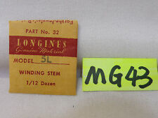 NEW VINTAGE LONGINES WINDING STEM 5L PART NO. 32 GENUINE NOS