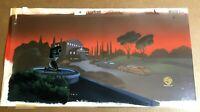 New Batman Adventures (1998) Original Production PAN Background TITLE CARD cel