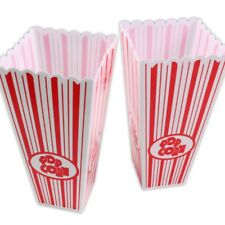 2x Strong Popcorn Boxes Plastic Cinema Movie Theatre Holders Party Film Night