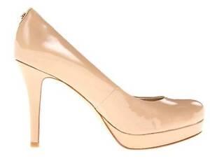 Womens Michael Kors IONNA PUMP Slip On Platform Heels Pumps Nude