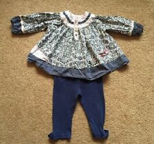 Mamas & Papas cotone tunica Top Camicetta & Bambino BHS leggings taglia 6-9 mesi