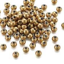100x 6mm Stainless Steel Smooth Round Metal Spacer Loose Bead DIY Jewelry Making