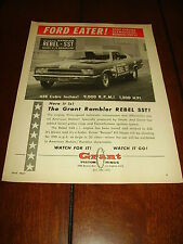 1967 AMC REBEL SST HAIRY X/S DRAGSTER RACE CAR 1,200 H.P.  ***ORIGINAL AD***