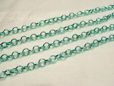 2 metres x Metal Belcher Chain - BNChain24 Green