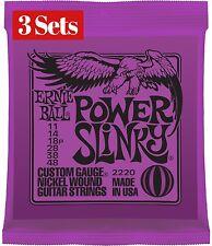 3 X SETS PACK ERNIE BALL 11 - 48 POWER SLINKY ELECTRIC GUITAR STRINGS
