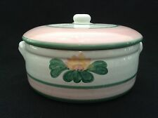 Caleca Water Lily Covered Casserole Dish with Lid - Italy - Hand Painted