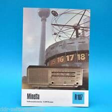 Minetta Volltransist. 5-AM-Kreiser 1976 Prospekt Werbung DEWAG DDR Radio R107 B