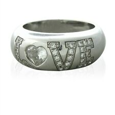 Chopard Happy Diamonds 18k White Gold Love Ring $16440