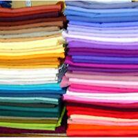 Solid Plain Coloured / colour 100% Cotton Fabric lot of colors