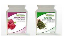 30 Raspberry Ketones Ketone & 30 Green Coffee Bean Extract Weight Loss Bottle