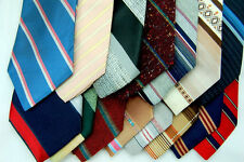 75 VINTAGE NARROW 60/70'S Wearing or Quilting Men NECKTIE NECK TIE LOT STRIPE