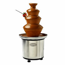 3-TIER CHOCOLATE FONDUE FOUNTAIN ~ NOSTALGIA ELECTRICS CFF-986 ~ STAINLESS STEEL