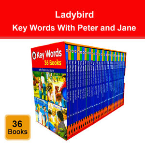 Ladybird Key Words With Peter and Jane 36 Books Collection Box Set
