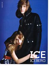 PUBLICITE ADVERTISING 094  2008  ICE ICEBERG  pret à porter caban homme