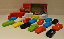 BOX OF 19 DISNEY CARS 3 PLASTIC MINI FILM CHARACTERS By TOMY McQUEEN DOC HUDSON