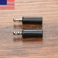 3Pcs 9mm to 3mm Tobacco Smoking Pipe Stem Filter Adapter Converter Travel Use GL