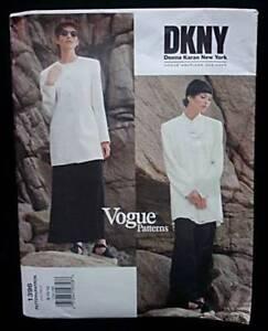 Vogue DKNY designer jacket skirt pants pattern uncut misses sizes 8, 10, 12