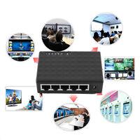 5 Port 1000 Mbps Desktop Ethernet Network LAN Power Adapter Switch Hub S4JV