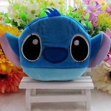 Stitch Women Kid Cartoon Portable Change Plush Zipper Coin Purse Wallet Mini Bag