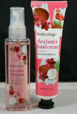 NEW Bodycology Duo Perfume Spray and Scented Body Lotion Coconut Hibiscus 2oz