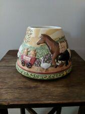 Yankee Candle Teresa Kogut Ceramic Candle Shade Farm Animal Scape