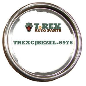 1969-1976 1/2 Jeep CJ & Commando C101 Stainless Steel Parking Light Bezels