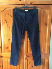 Jeans - black with blue flock pattern - size 12