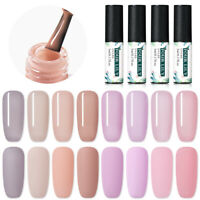 FOUR LILY UV Soak off Color Jelly Gel Nail Polish 8 Colours Base Top Coat 5ml