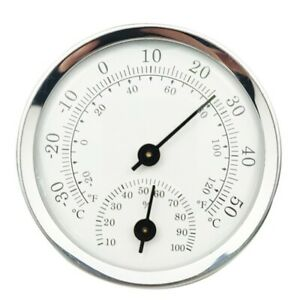 MINI-HOUSEHOLD WALL MOUNTED TEMPERATURE HUMIDITY METER THERMOMETER & HYGROMETER