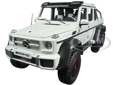 MERCEDES G63 AMG 6X6 MATT WHITE 1/18 MODEL CAR BY AUTOART 76303