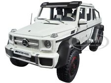 MERCEDES G63 AMG 6X6 MATT WHITE 1/18 MODEL CAR BY AUTOART 76303