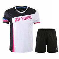 New tennis sportswear men's clothing Badminton Tops T shirts +shorts