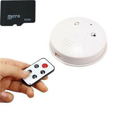 8G Spy HD Smoke Detector Hidden Camera Motion Detection DVR With Remote Control