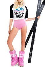 WILDFOX  NWT, SNOW BUM COTTON BLEND SWEATSHIRT IN CLEAN WHITE/BLACK XS 8.00