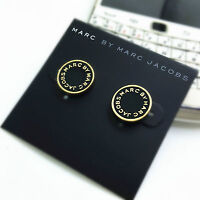 NEW FASHION MARC BY MARC JACOBS 14 COLORS  LETTERS DISC STUD EARRINGS #E001X