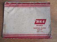 BSA BANTAM SUPER MODEL D7 GENUINE FACTORY SPARES CATALOGUE NO.00-5079