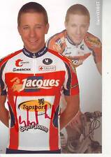 CYCLISME carte cycliste EVERT VERBIST équipe JACQUES TOPSPORT signée