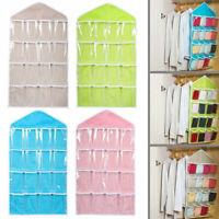 Portable 16 Pockets Hanging Bag Socks Storage Tidy Wall Closet Organizer 2019NEW
