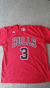 Adidas The Go To Chicago Bulls Dwayne Wade Shirt Adult Large Jersey short Sleeve