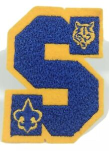 BSA ~ Cub Scout Sports Program Letter =S= Patch ~ Boy Scouts of America ~ NICE!