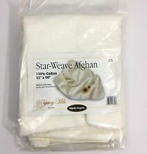 Star Weave Afghan For Cross Stitch Regency Mills Off White Cream Fabric Cloth