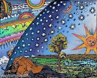 Medieval Cosmology [Flat Earth] : Camille Flammarion : Archival Quality Print