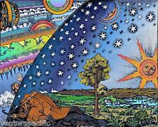Medieval Cosmology [Flat Earth] : Camille Flammarion : Woodcut circa 1888