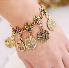 Women's Jewelry Bohemian Ethnic Vintage Silver Coin Bracelet Chain Gold Color
