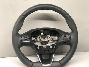 FORD FOCUS 2018-On FLAT BOTTOM GREY/RED SOFT TOUCH LEATHER STEERING WHEEL CRUSE