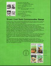 CORAL REEFS - 1827-30 SOUVENIR PAGE - 1980