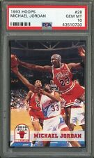 1993-94 HOOPS BASKETBALL MICHAEL JORDAN #28 PSA 10 GEM MINT