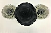 Decor In The Box 7 piece Handmade Paper Flower Set Fully Assembled-Multi-Color