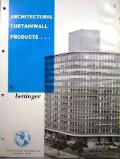 BETTINGER Curtain Wall ASBESTOS Building Panels Catalog 1962 VERMICULITE