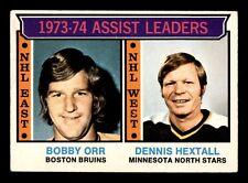 BOBBY ORR ASSIST LEADERS 74-75 O-PEE-CHEE 1974-75 NO 2 VGEX+  18808